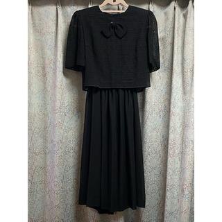 ソワール(SOIR)の東京ソワール SOUR BENIR ブラックフォーマル 半袖 喪服 ワンピース(礼服/喪服)