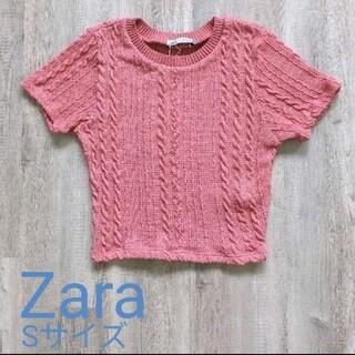 ZARA - クロップドジャカードTシャツ Zara Sサイズ 新品未使用