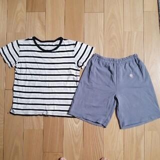 ムジルシリョウヒン(MUJI (無印良品))の無印半袖Tシャツとユニクロショートパンツ 110(パンツ/スパッツ)