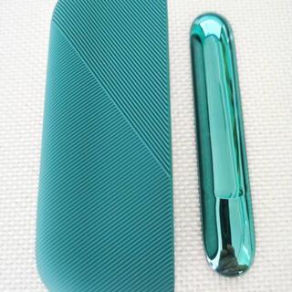 アイコス(IQOS)のIQOS3 DUO アイコス3ケース カバーセット アイコス (緑)(タバコグッズ)