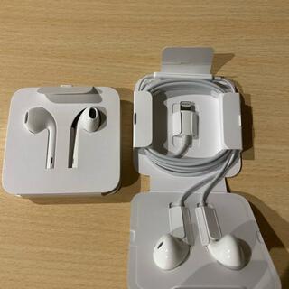 アイフォーン(iPhone)の【未使用品】iPhone純正イヤホン 2個セット(ヘッドフォン/イヤフォン)