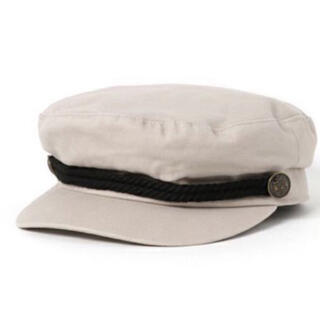 プティマイン(petit main)のpetit main マリンキャップ キャスケット 帽子 50㎝ ベージュ(帽子)