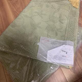フランフラン(Francfranc)の新品未使用 タッセル付き刺繍バスマット(バスマット)
