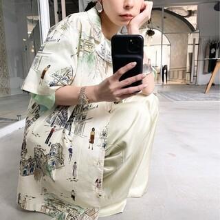 アメリヴィンテージ(Ameri VINTAGE)のAmeriVINTAGE 新作完売品 MEDI MALAGA OVER シャツ(シャツ/ブラウス(半袖/袖なし))