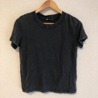 ZARA - ZARAザラ used加工Tシャツ グレー
