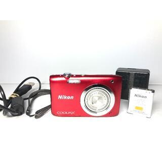 ニコン(Nikon)のニコン COOLPIX A100 レッド(コンパクトデジタルカメラ)