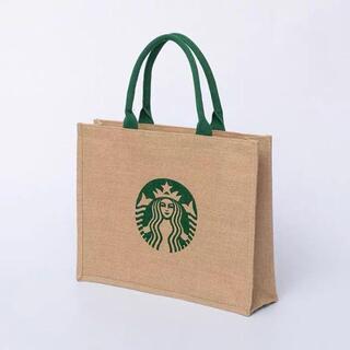 Starbucks Coffee - スターバックス STARBUCKS 麻トートバッグ 薄型