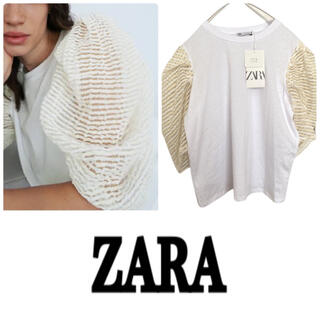 ZARA - ZARA 新品 パフ トップス TOP WITH ORGANZA TRIM