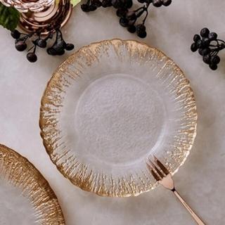 フランフラン(Francfranc)のフランフラン  フラッシュ ガラスプレート 皿 2枚セット(食器)