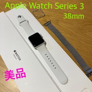 Apple Watch - 美品!Apple Watch Series 3 38mm シルバー