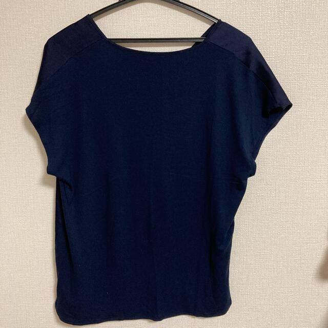 MANGO(マンゴ)のMANGO 紺 トップス レディースのトップス(カットソー(半袖/袖なし))の商品写真