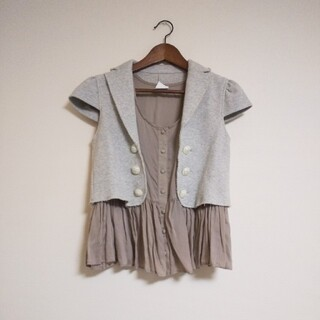 ダブルスタンダードクロージング(DOUBLE STANDARD CLOTHING)のダブルスタンダードクロージング ジャケット 重ね着 トップス(シャツ/ブラウス(半袖/袖なし))