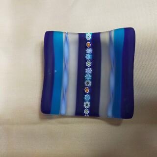 ベネチアングラス 小皿 高さ25x75x75mm