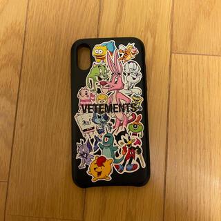 バレンシアガ(Balenciaga)のVETEMENTS iPhoneX,XSケース(iPhoneケース)