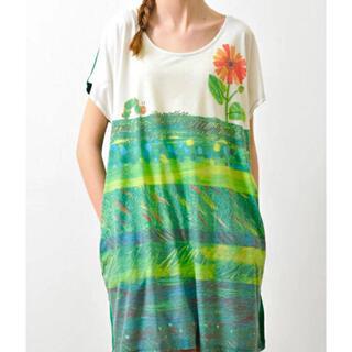 Design Tshirts Store graniph - グラニフ はらぺこあおむし コラボ ワンピース  ゆったりサイズ