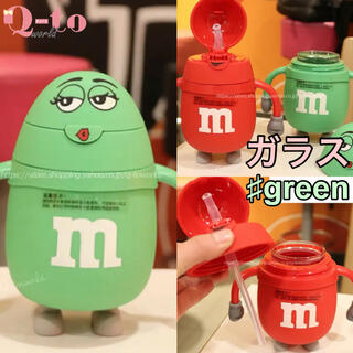 【m&m's】エムアンドエムズ ストローマグ ベビーマグ ガラス製 韓国子供服(水筒)
