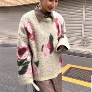 アメリヴィンテージ(Ameri VINTAGE)のAMERI ブラック フラワー ニット セーター(ニット/セーター)