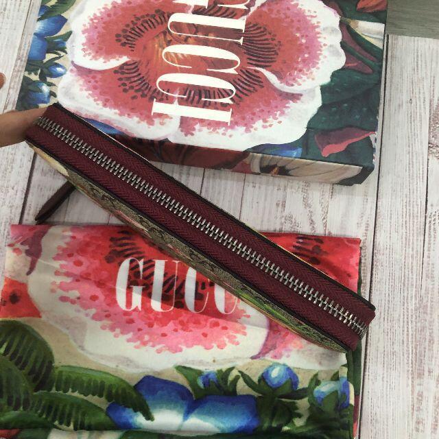 GUCCI 長財布 ブルームス 花柄 赤 レディースのファッション小物(財布)の商品写真