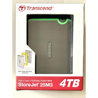 トランセンド(Transcend)の新品未使用未開封 保証期間内 Transcend 4TB モバイルHDD 耐衝撃(PC周辺機器)