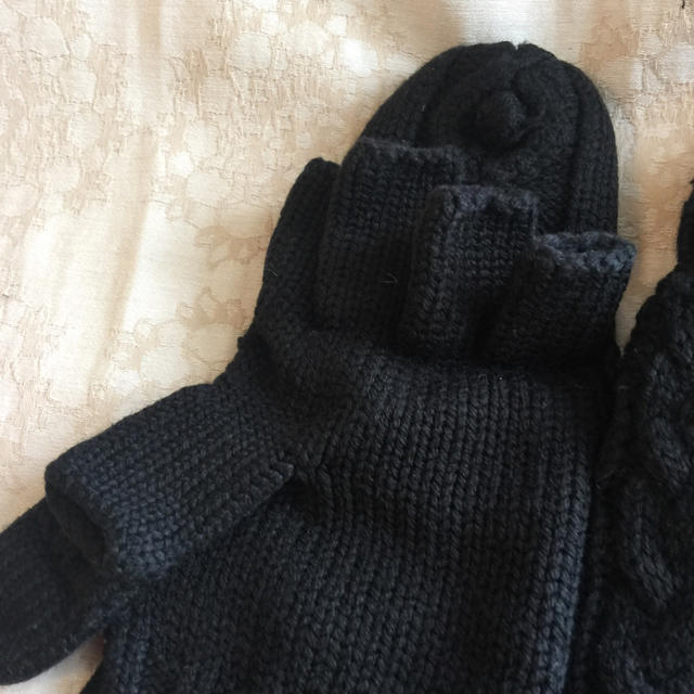 MUJI (無印良品)(ムジルシリョウヒン)の無印良品 MUII ♡定番 ミトンにもなる半指手袋 レディースのファッション小物(手袋)の商品写真