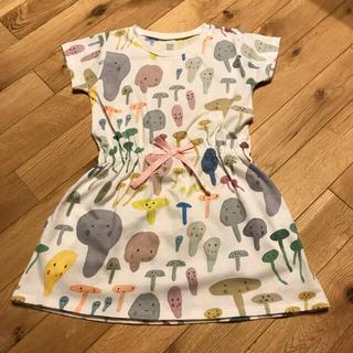 Design Tshirts Store graniph - グラニフ ワンピース 110 森の仲間たち