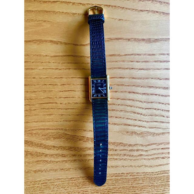 Cartier(カルティエ)のCartier カルティエ マスト タンク ブラック ローマン 手巻き LM メンズの時計(腕時計(アナログ))の商品写真