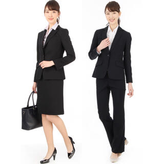 アオヤマ(青山)の【新品未使用タグアリ】n♡line ブラックストライプ スーツ上下 5号(スーツ)
