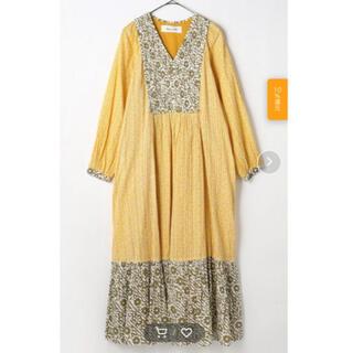 IENA SLOBE - サラマリカ COTTON LUREX DOUBLE FLOWER DRESS