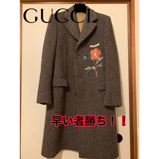 グッチ(Gucci)の【超美品】GUCCI ロングコート ローズ(ステンカラーコート)
