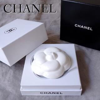 CHANEL - 美品◎シャネル カメリア ペーパーウェイト アロマ ホワイト セラミック
