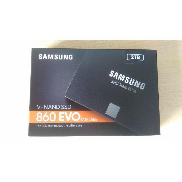 SAMSUNG(サムスン)のSamsung 860 EVO MZ-76E2T0B/IT 2TB  納品書付 スマホ/家電/カメラのPC/タブレット(PCパーツ)の商品写真