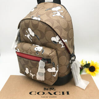 COACH - COACH バックパック ★大人気★ スヌーピー シグネチャー 新品