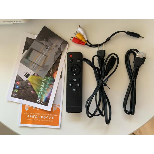 DBPOWER ミニプロジェクター スマホ/家電/カメラのテレビ/映像機器(プロジェクター)の商品写真