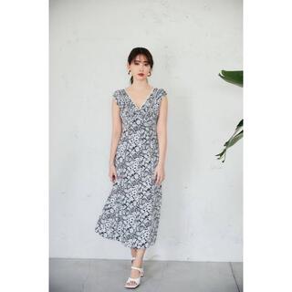 Jil Sander - her lip to Lace Trimmed Floral Dress 花柄
