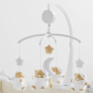 nanan ナナン メリー  ベッドメリーホワイト 白(オルゴールメリー/モービル)