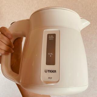 TIGER - タイガーTIGER 電気ケトルわく子 PCF-A080 W 0.8L