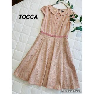 TOCCA - トッカ TOCCA   ウエストリボンワンピース 刺繍花柄ワンピース