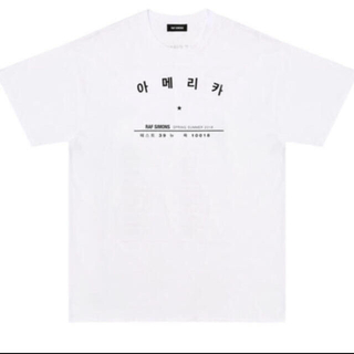 ラフシモンズ(RAF SIMONS)のRAFSIMONS ハングルツアー Tシャツ(Tシャツ/カットソー(半袖/袖なし))