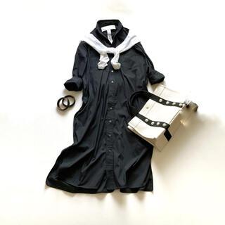 DEUXIEME CLASSE - 人気✨ティッカ スクエアビッグロングシャツ シャツワンピース 羽織り ブラック