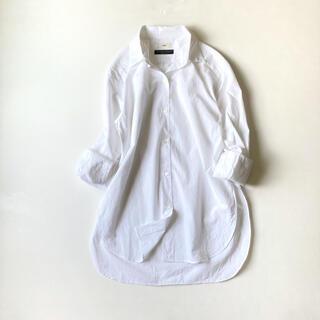 IENA - イエナ Cangioli ロングスリットシャツ 白シャツ 長袖シャツ ゆったり
