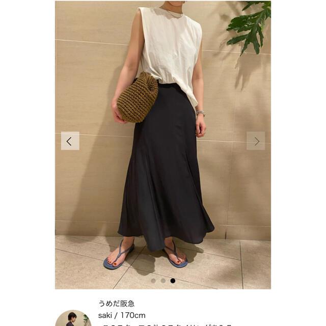 Mila Owen(ミラオーウェン)のMilaOwen(ミラ オーウェン)  マチフレアステッチデザインナロースカート レディースのスカート(ロングスカート)の商品写真