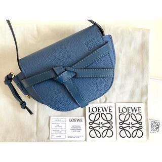 LOEWE - 新品未使用 ロエベ  LOEWE バック ゲート ミニ ショルダーバッグ ブルー
