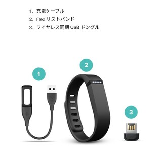 fitbit flex用 リストバンド(Lサイズ) 充電ケーブル等 【本体なし】