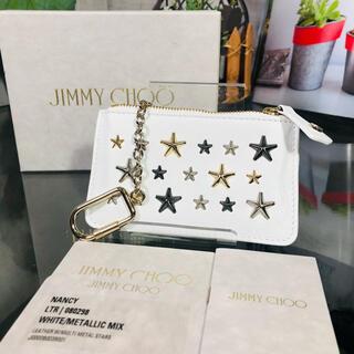JIMMY CHOO - 未使用品 JIMMY CHOO コインケース ホワイト ジミーチュウ
