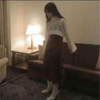 Bubbles - melt the lady シアークロップドニットトップス