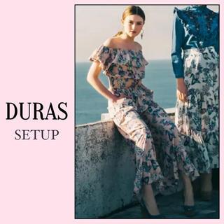 DURAS - DURAS オリジナル柄 フリルトップス フレアパンツ*2点 セット