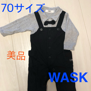 ベベ(BeBe)のWASK BEBE 蝶ネクタイ フォーマル ベビーカバーオール ロンパース 70(ロンパース)