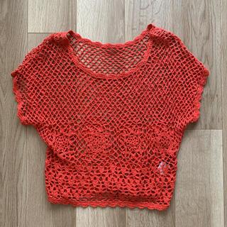 イング(INGNI)のイング ING メッシュ レッド(Tシャツ(半袖/袖なし))