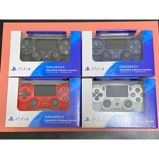 ソニー(SONY)の4個 新品 未開封 PS4 純正デュアルショック4 ジェットブラック (その他)