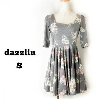 dazzlin - dazzlin フレア ミニワンピース 花柄 総柄 ダズリン ワンピース S